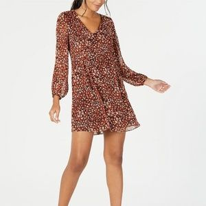 NWT international concepts cheetah dress
